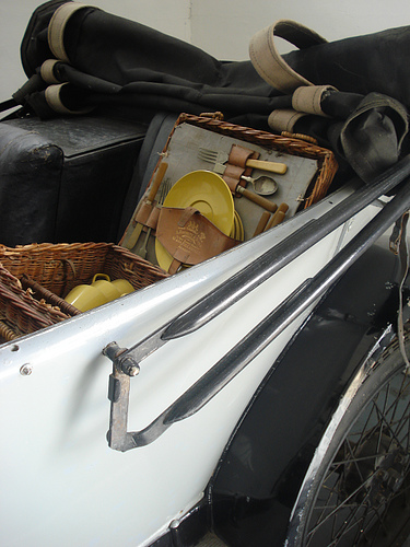 old car and basket