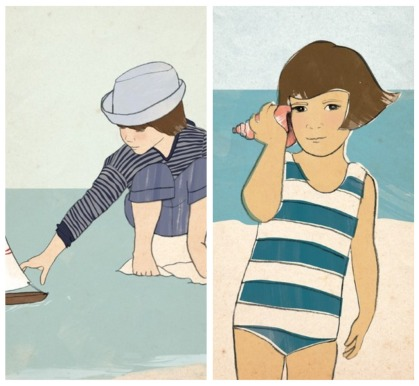 tutti boy girl collage