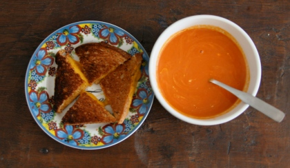 grilled cheese and tomato
